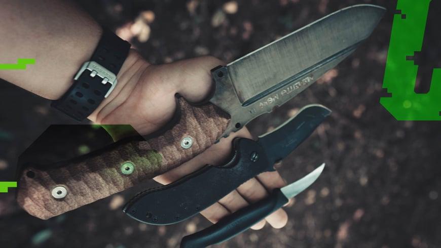 różne rodzaje noży