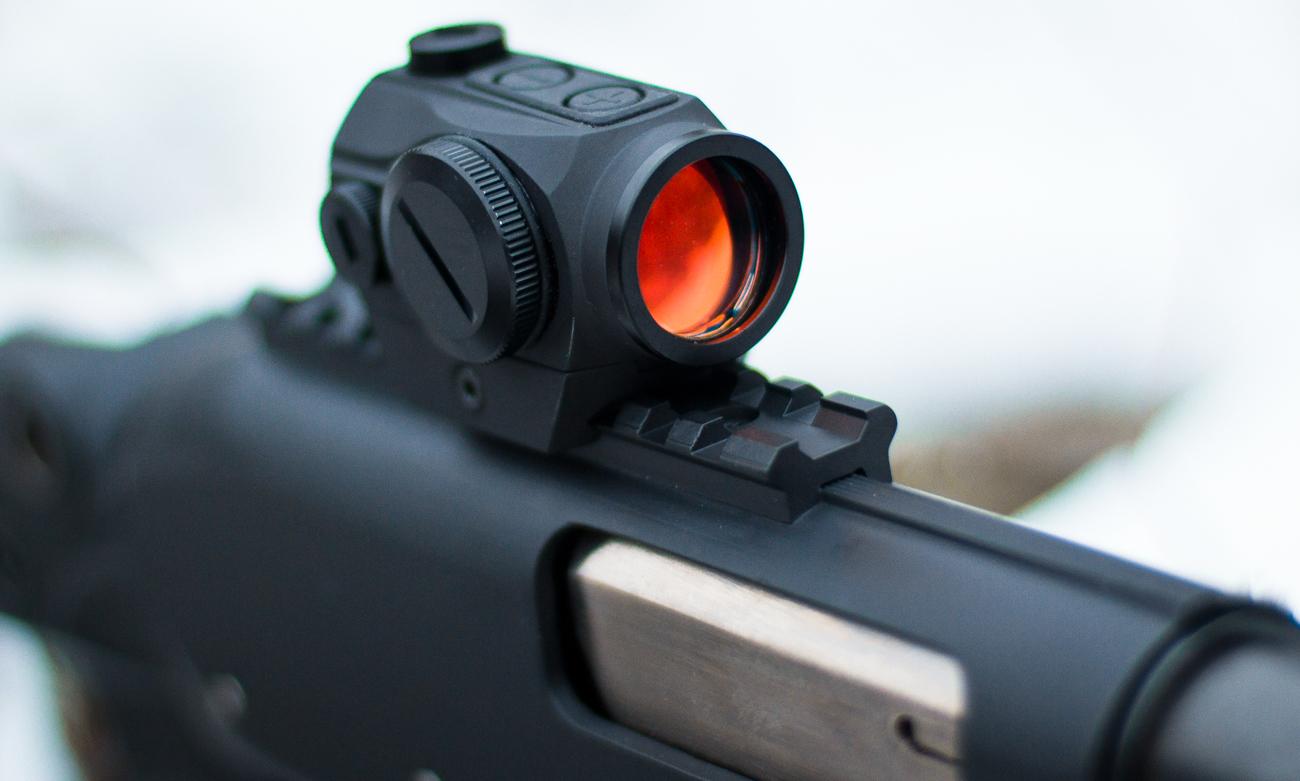 strzelba z kolimatorem