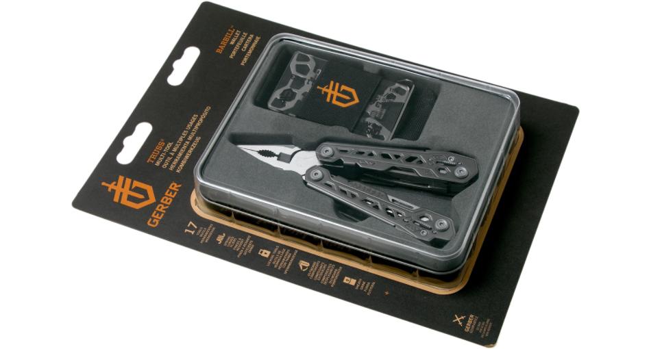 Zestaw Multitool Gerber Gear Truss + Portfel Wallet Gift Tin w opakowaniu
