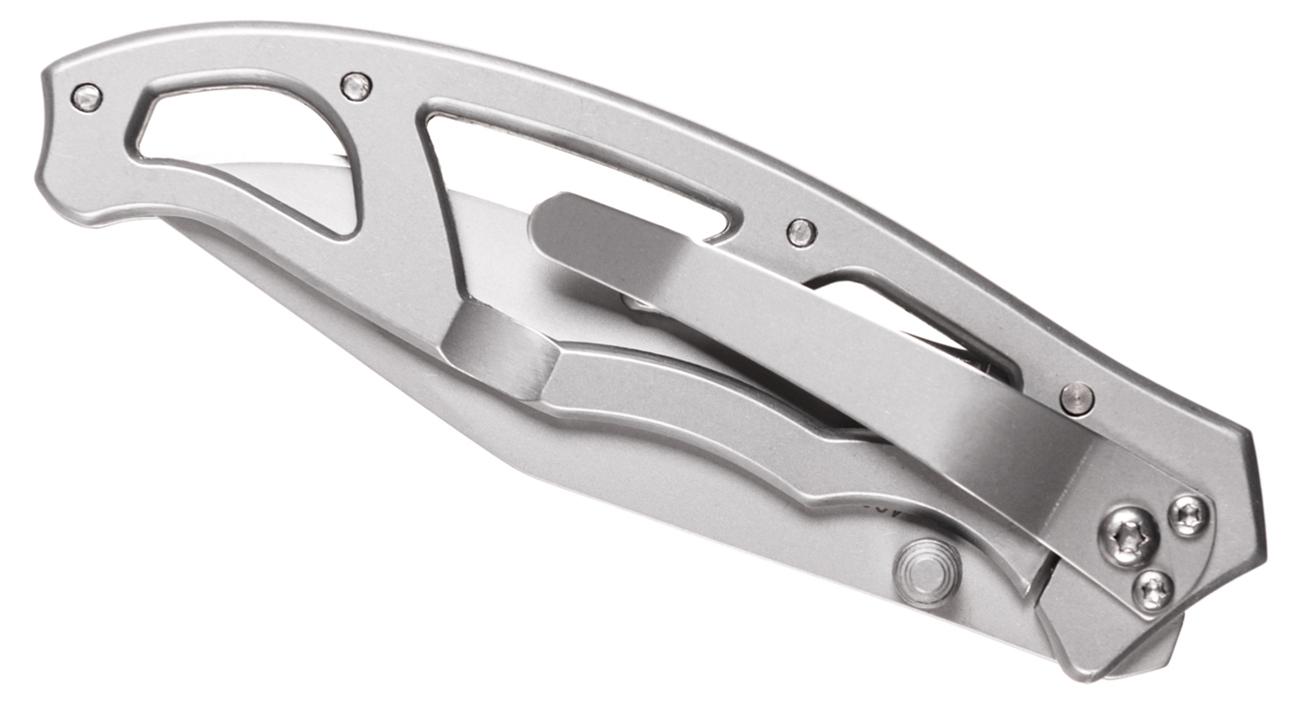 Złożony nóż Gerber Gear Paraframe I - Stainless, Fine Edge z widocznym klipsem