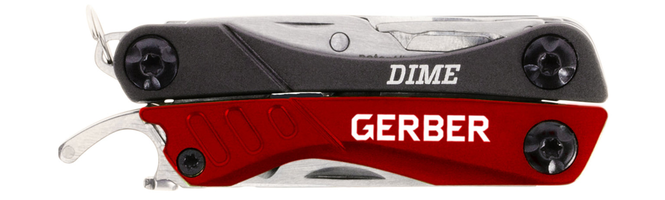 Złożony multitool Gerber Gear Dime Red