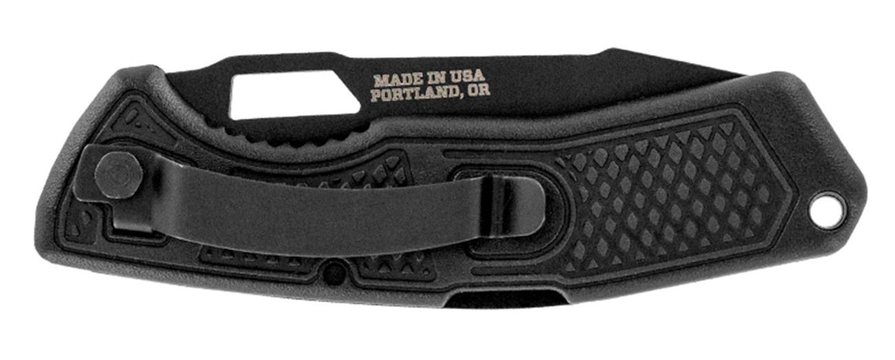 Złożony nóż Gerber Gear Order - Drop Point, Serrated, 420HC z widocznym klipsem