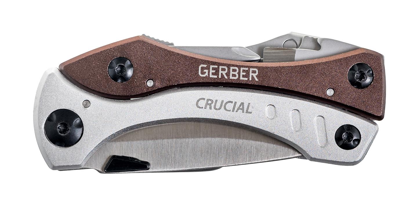 Aluminiowa rękojeść Multitool Gerber Gear Crucial, Grey