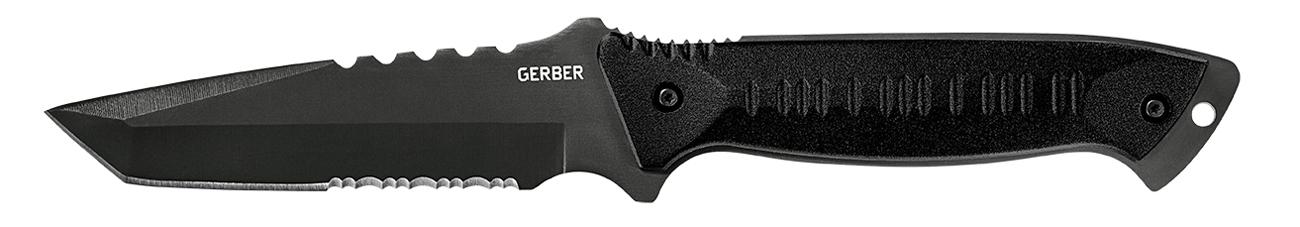 Nóż z głownią stałą Gerber Gear Warrant, Tanto, BLK Blade & Handle, Camo Nylon