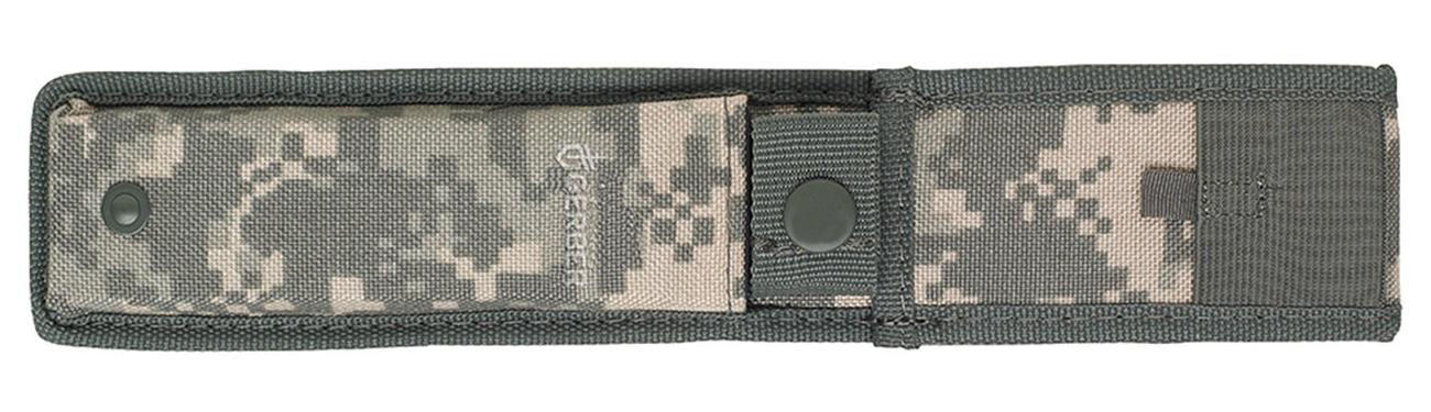 Pokrowiec noża z głownią Gerber Gear Warrant, Tanto, BLK Blade & Handle, Camo Nylon