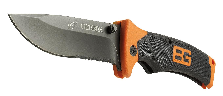Ostry i wytrzymały nóż składany Gerber Gear Bear Grylls Survival Series, Folding Sheath Knife