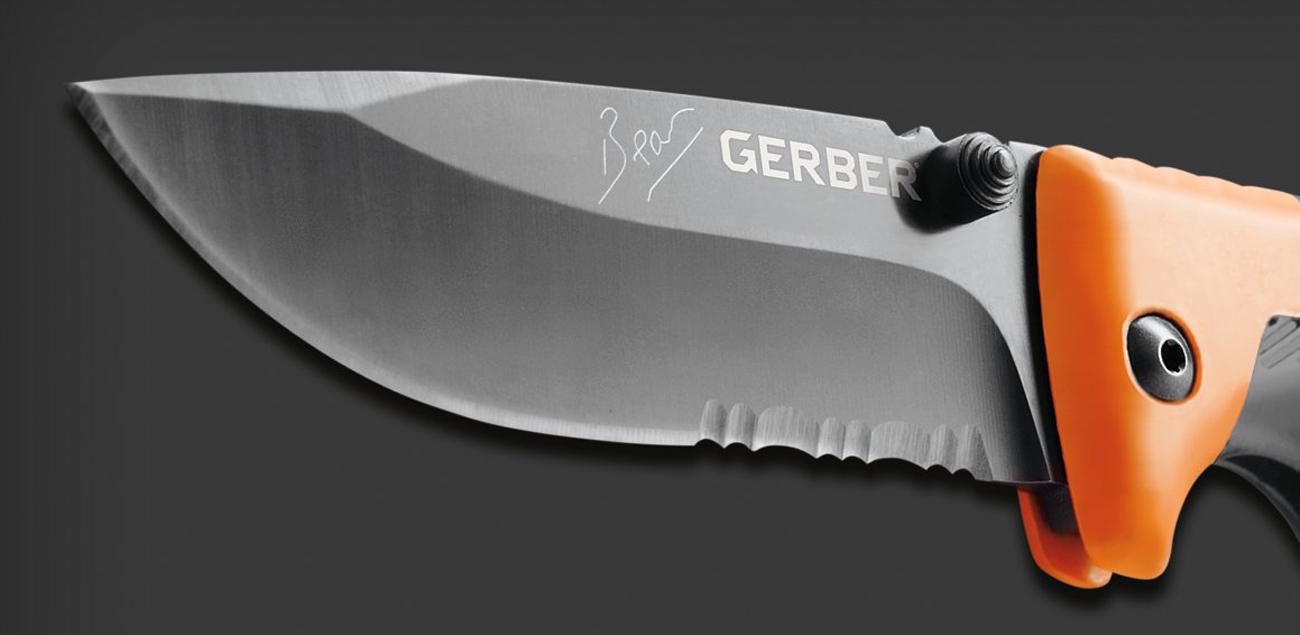 Ostry i wytrzymały nóż składany Gerber Gear Bear Grylls Survival Series Scout