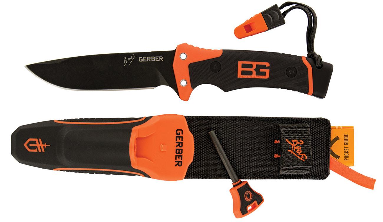Nóż ze stała głownią Ultimate Pro Fixed Blade wraz z pochwą i krzesiwem