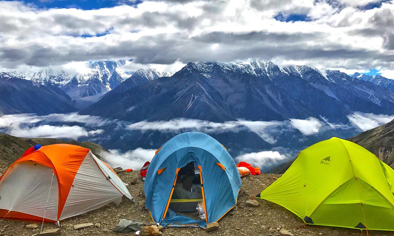 Namioty w górach