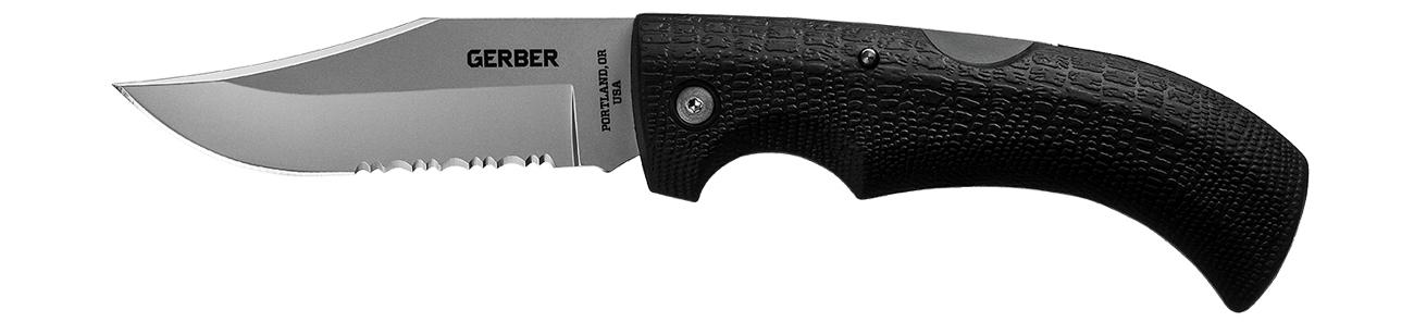 Nóż składany Gerber Gear Gator - Clip Point, Serrated