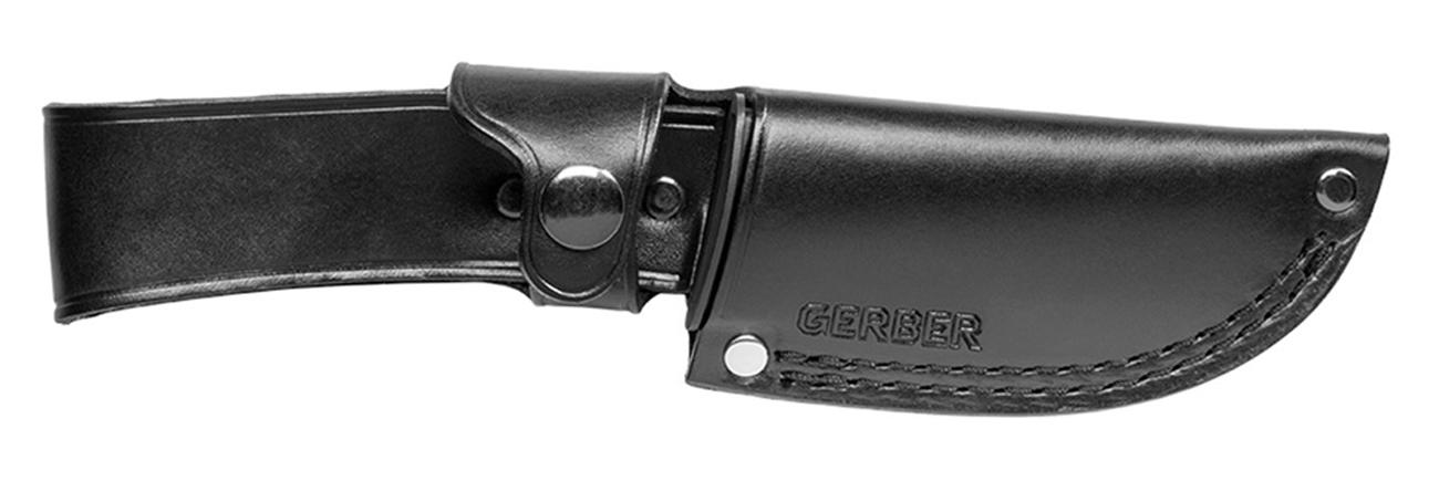 Pochwa noża z głownią stałą Gerber Gear Gator Premium Fixed Drop Point wykonana ze skóry
