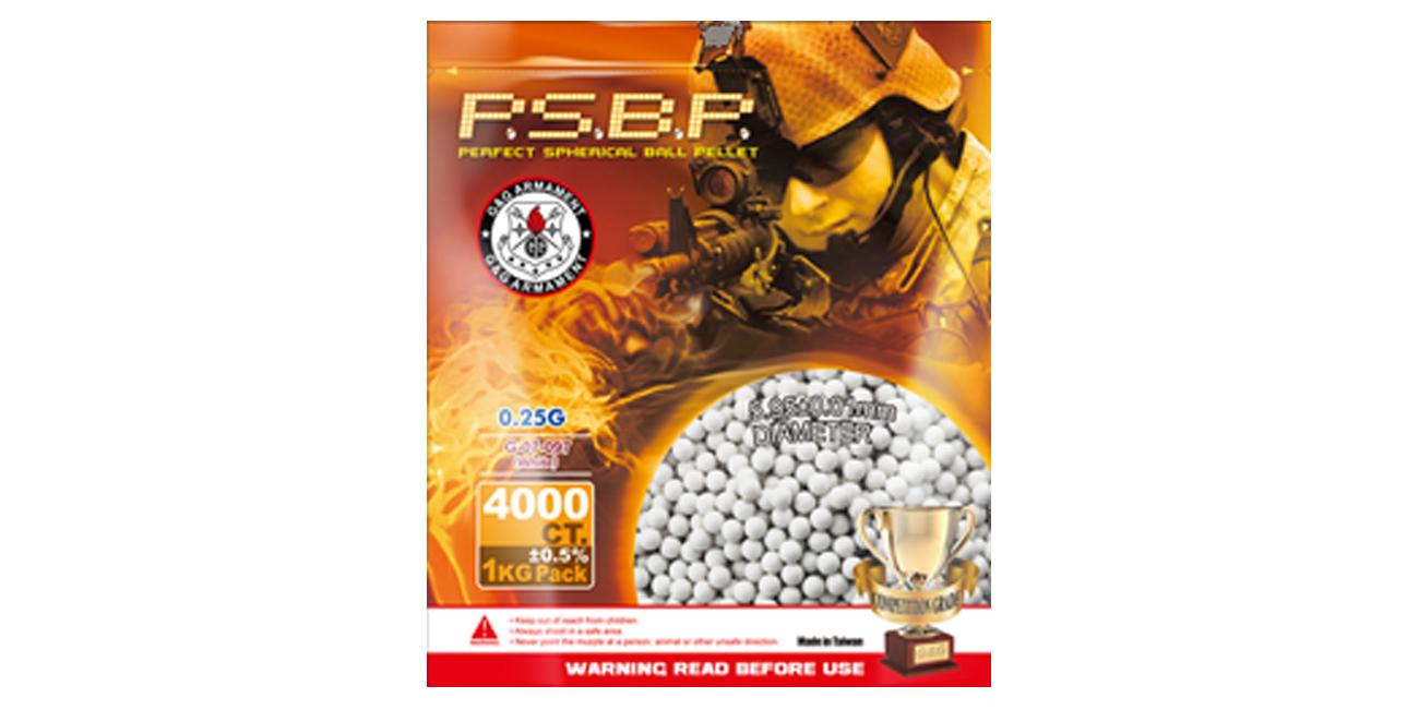 Kulki ASG G&G P.S.B.P. 0.25g 6 mm 4000 szt. Białe