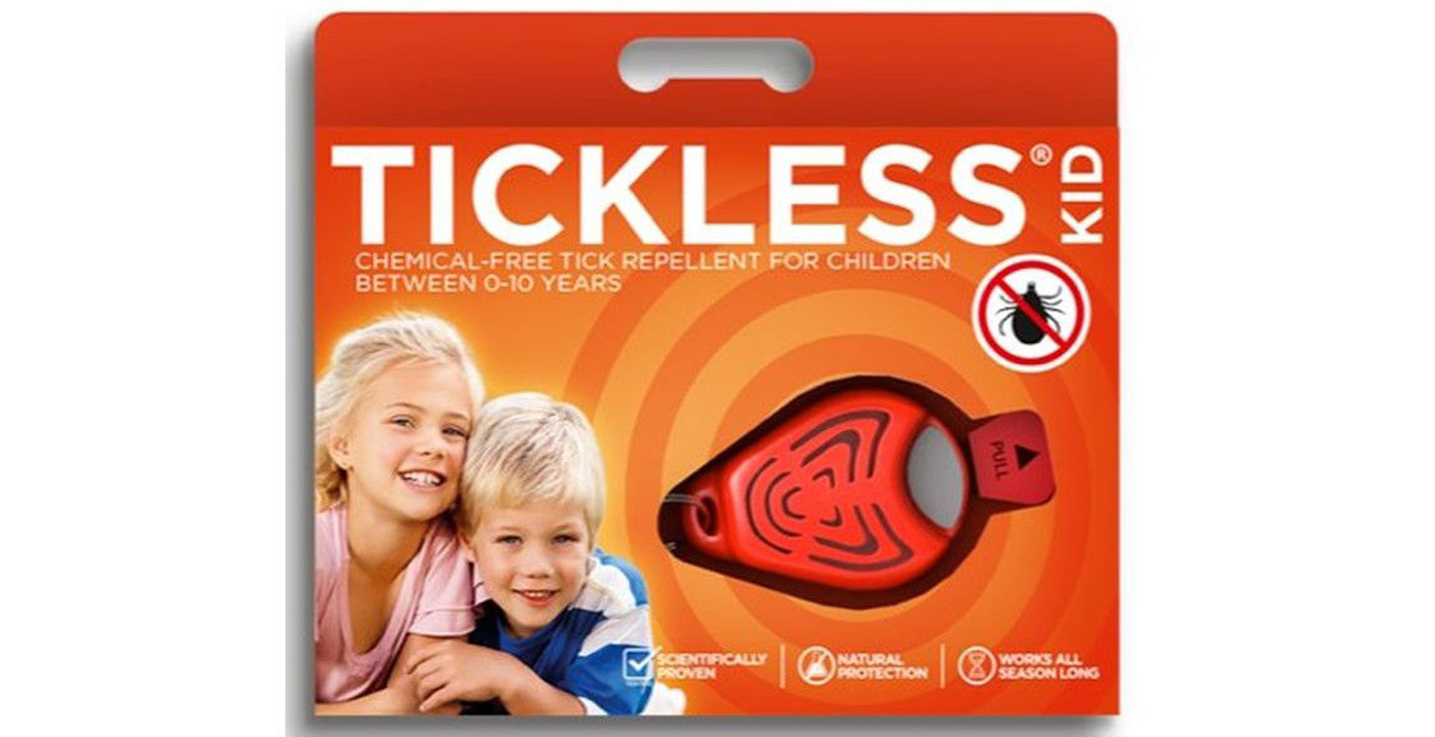 Ultradźwiękowy odstraszacz kleszczy Tickless Kid Orange opakowanie