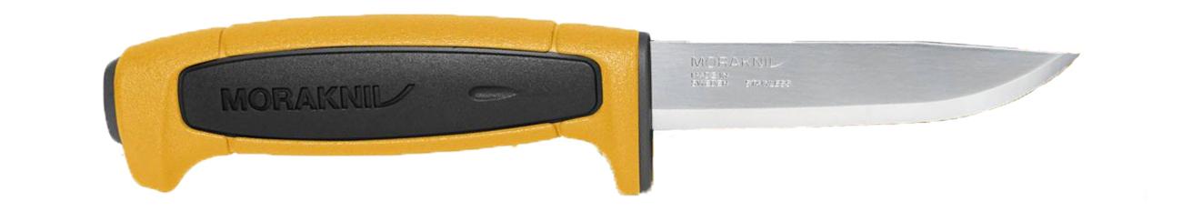 Nóż Morakniv BASIC 546 Limited Edition 2020 Żółty/Czarny zbliżenie na rękojeść