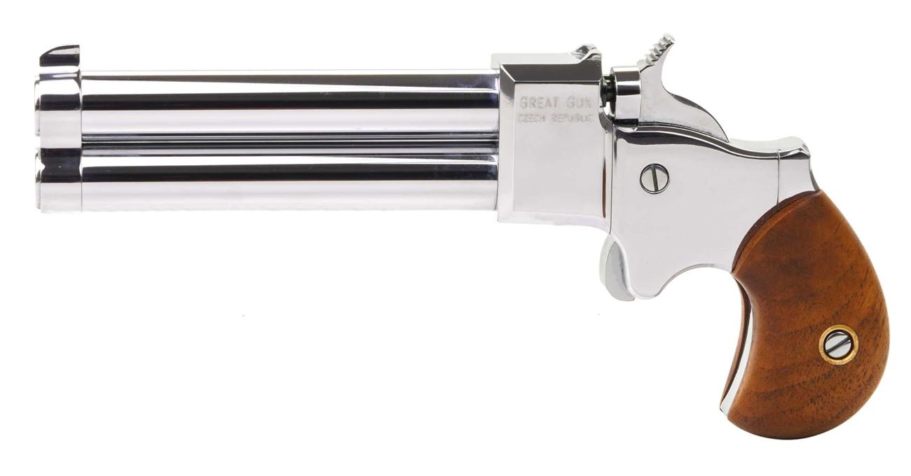 Pistolet CP Derringer Great Gun Chrom .54 lufa 6 cali