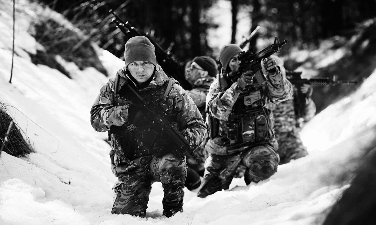 Żołnierze zimą