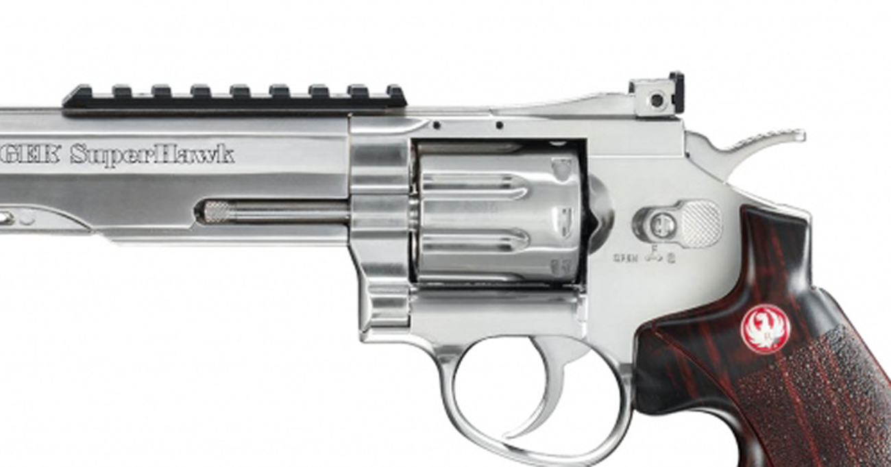 Airsoft Rewolwer Ruger SuperHawk 8 cali chrom bicolor