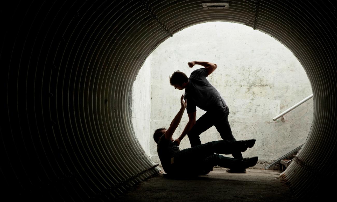 Brutalny napad w przejściu podziemnym