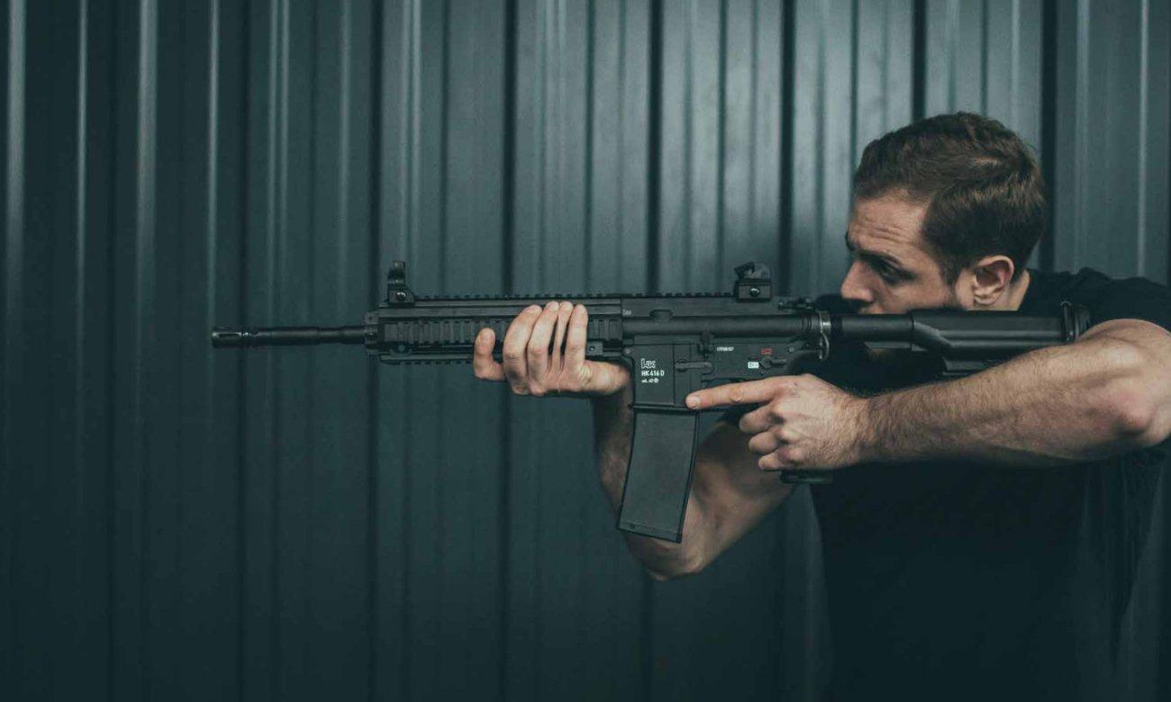 Trening z repliką T4E HK416