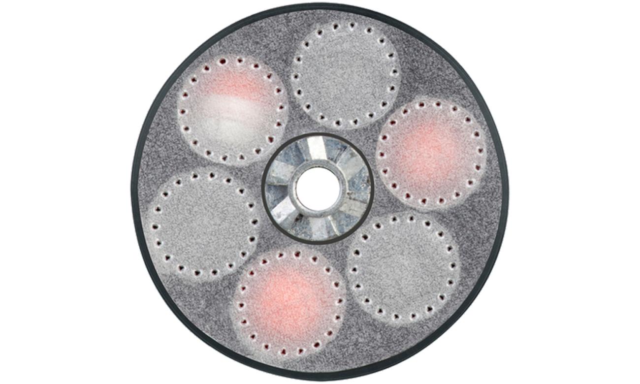 Magazynek do rewolweru HDR 50 z kulami gumowymi pieprzowymi widok od przodu