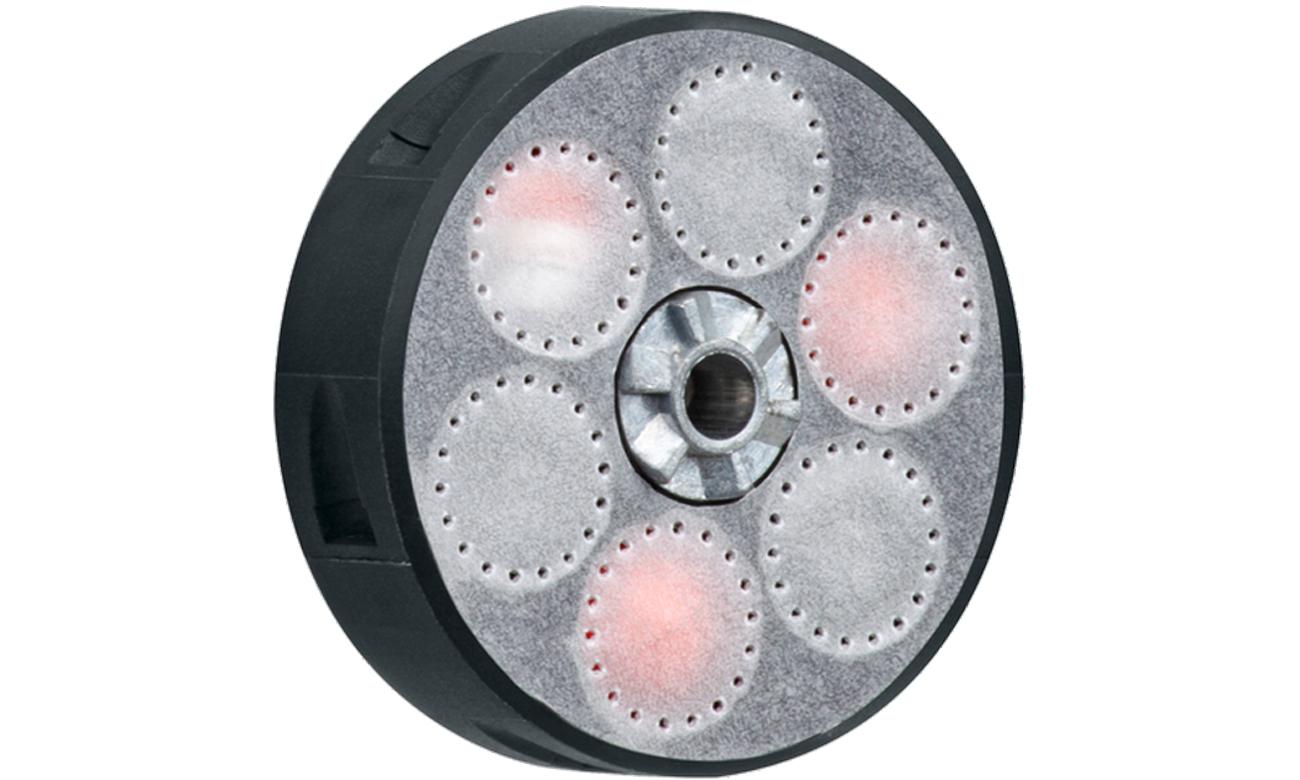 Magazynek do rewolweru HDR 50 z kulami gumowymi pieprzowymi widokk pod skosem