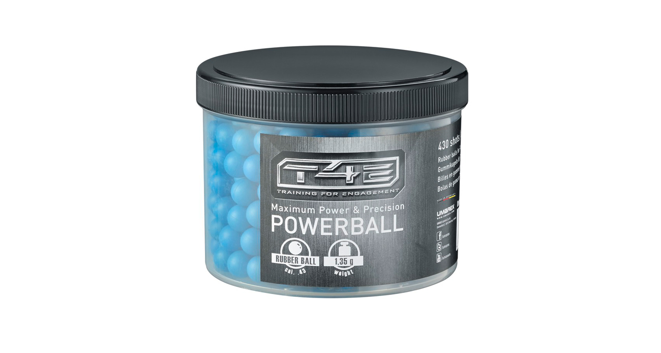 Kule gumowe T4E RB43 Powerball Blue kal. 10,92 mm .43 cala