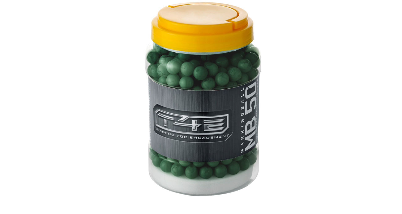 Kule polimerowe zawierające zieloną farbę markującą T4E MB 50 kal. 12,70 mm .50 cala
