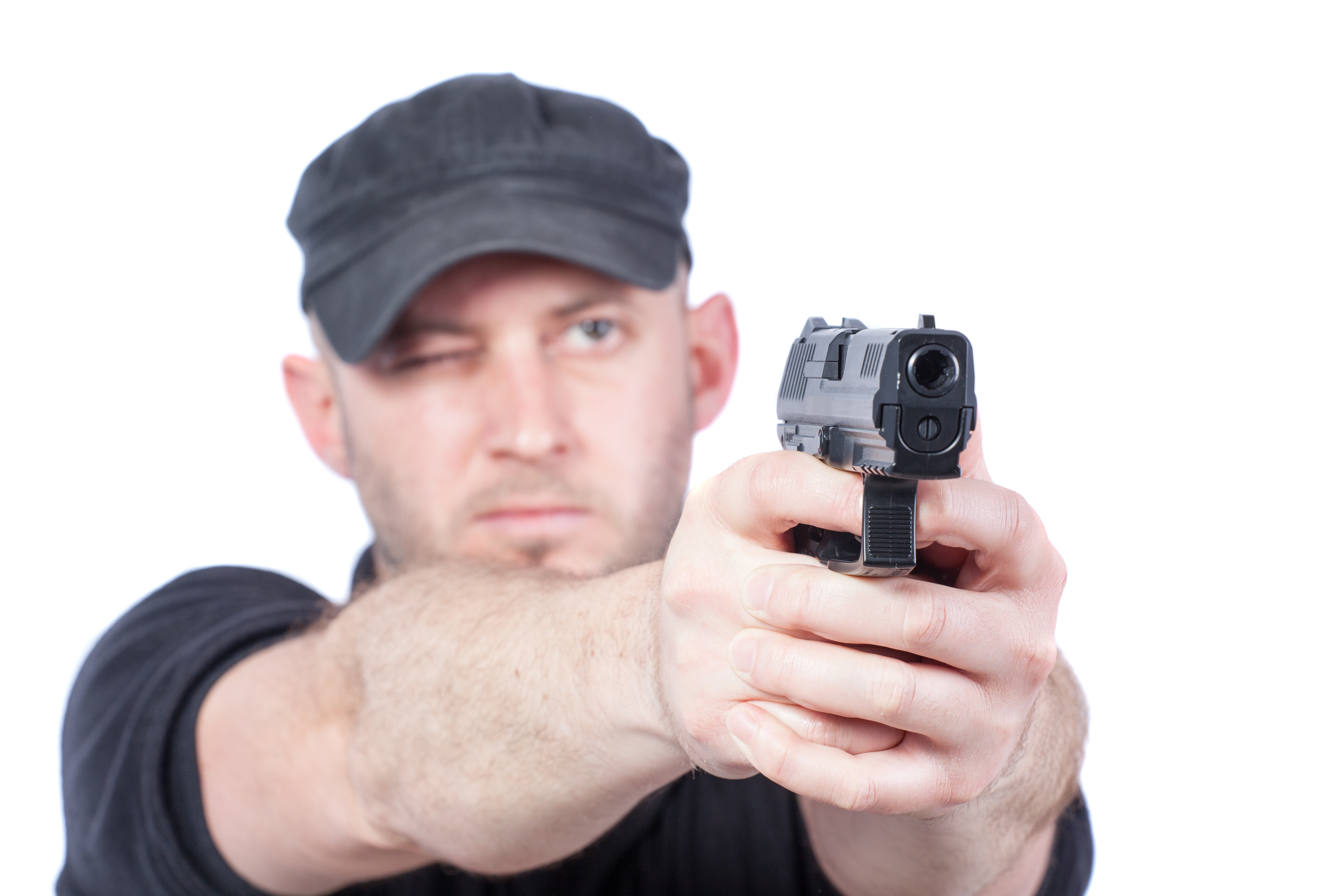 Strzelec z pistoletem ASG Walther PPQ