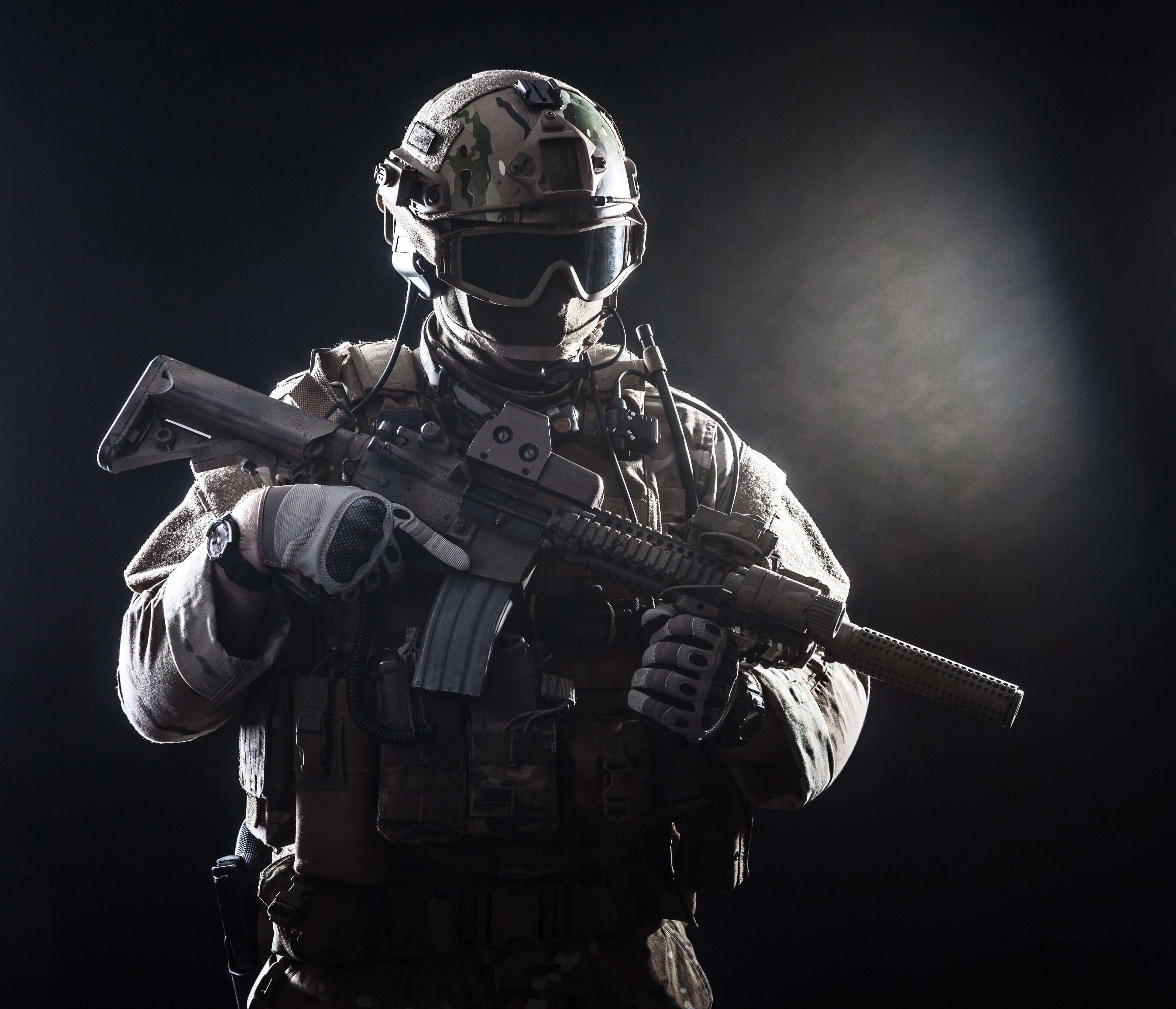 HK 416 soldier