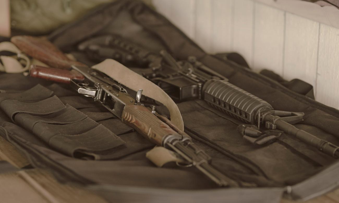 Pokrowiec na karabinek Walther z bronią