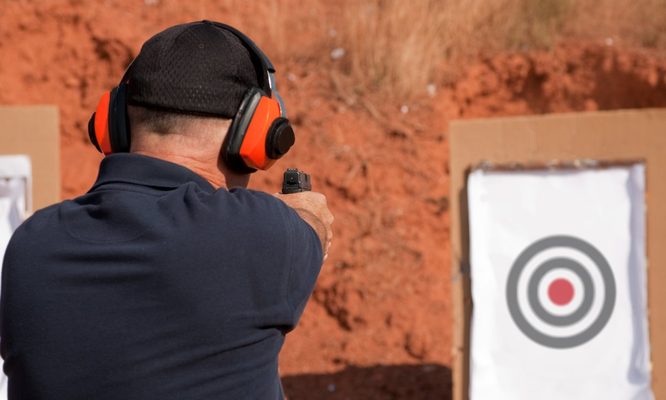 Człowiek na strzelnicy