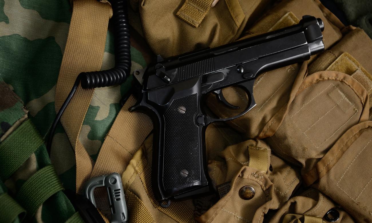Pistolet Beretta i wyposażenie