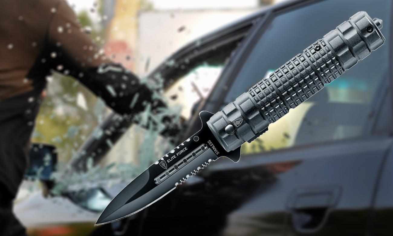 Nóż Elite Force wyposażony w zbijak do szyb
