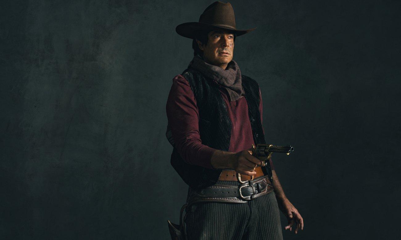 Cowboy z rewolwerem