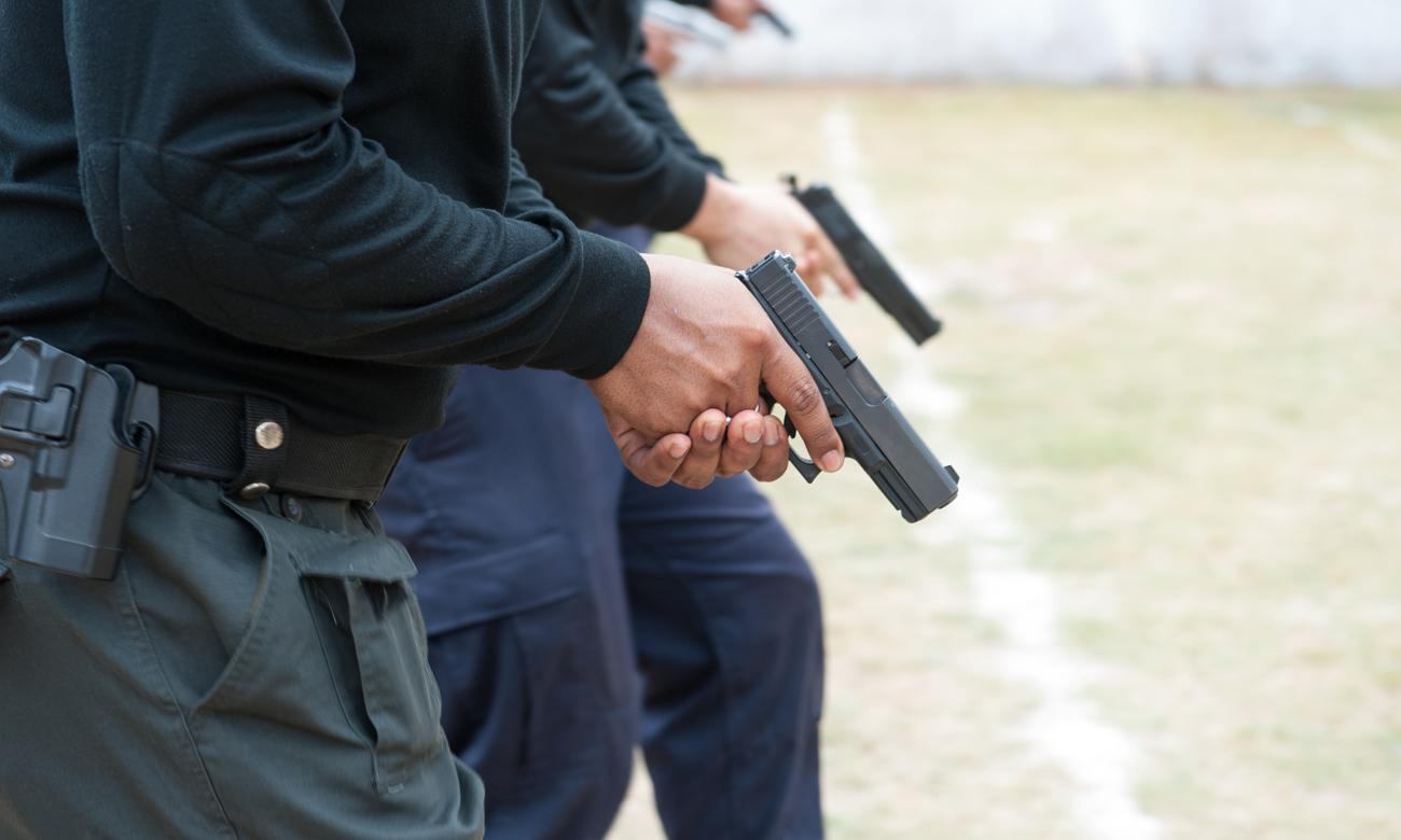Strzelcy z wiatrówkami Glock