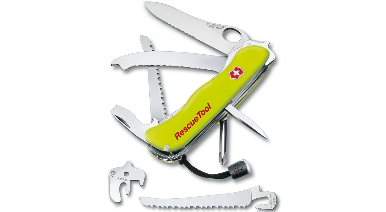 scyzoryk Rescue Tool, 111 mm, Nylon, żółty, etui
